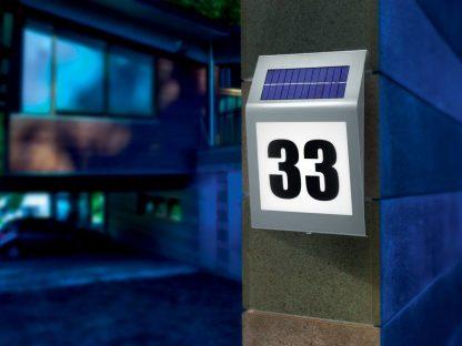 Huisnummer op zonne-energie Style 1