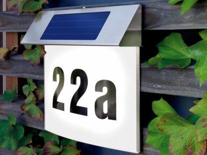 Huisnummer op zonne-energie Vision 1