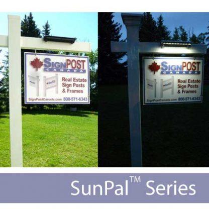 reclamebord verlichting op zonne energie