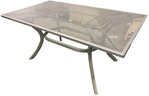 Hartman tafel Symfonia met stalen blad en aluminuim onderstel 160 x 90 platinum 1
