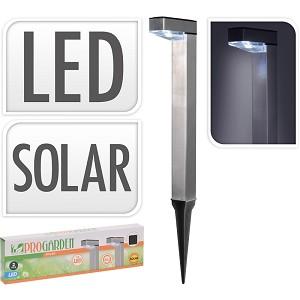 SOLAR STAANDE LAMPEN LED SET VAN 2 LAMPEN 1